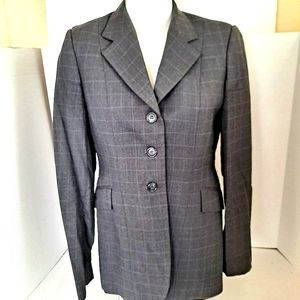 Ariat Size 12L Show Coat Wool Riding Jacket GRY/BL